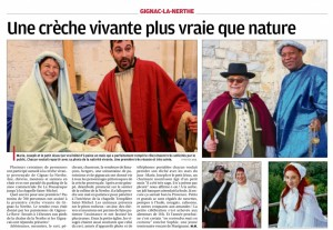 article Provence crèche vivante